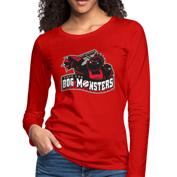 Cape Cod Bog Monsters Women's Long Sleeve T-Shirt - red
