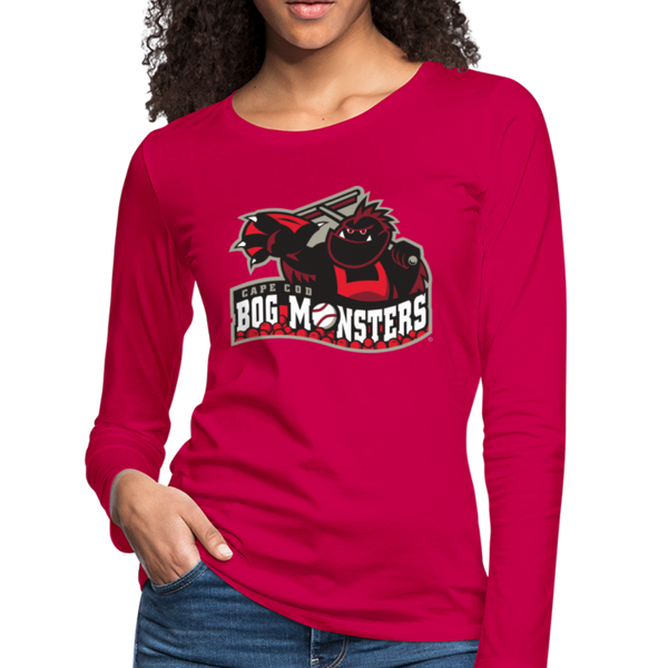 Cape Cod Bog Monsters Women's Long Sleeve T-Shirt - dark pink