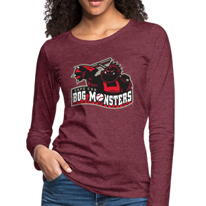 Cape Cod Bog Monsters Women's Long Sleeve T-Shirt - heather burgundy