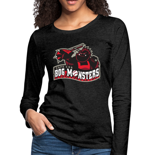 Cape Cod Bog Monsters Women's Long Sleeve T-Shirt - charcoal gray