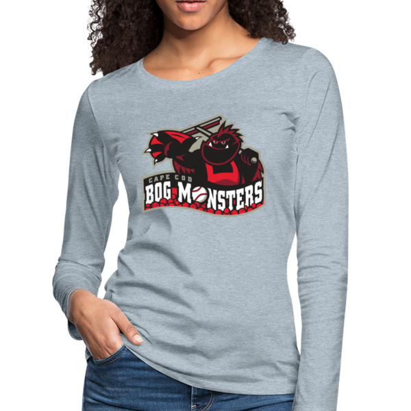 Cape Cod Bog Monsters Women's Long Sleeve T-Shirt - heather ice blue