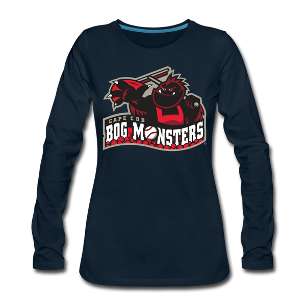 Cape Cod Bog Monsters Women's Long Sleeve T-Shirt - deep navy
