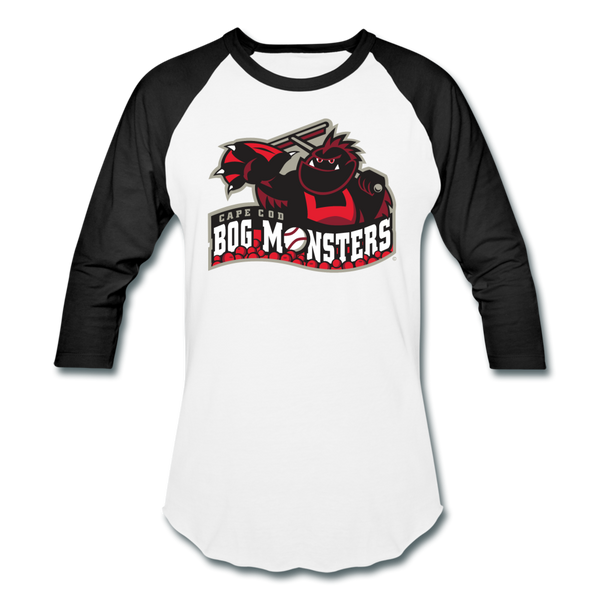 Cape Cod Bog Monsters Unisex Baseball T-Shirt - white/black