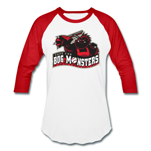 Cape Cod Bog Monsters Unisex Baseball T-Shirt - white/red