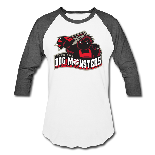 Cape Cod Bog Monsters Unisex Baseball T-Shirt - white/charcoal
