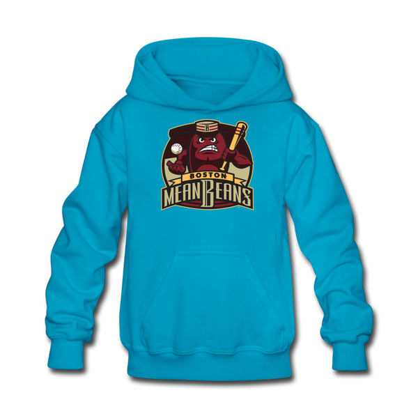 Boston Mean Beans Kids' Hoodie - turquoise