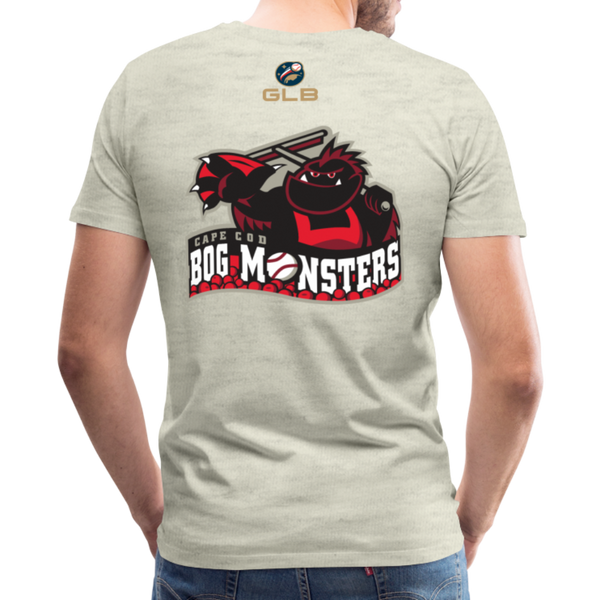 Cape Cod Bog Monsters Men's Premium T-Shirt - heather oatmeal