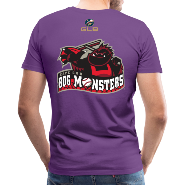 Cape Cod Bog Monsters Men's Premium T-Shirt - purple