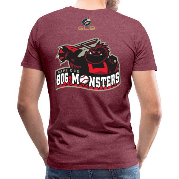 Cape Cod Bog Monsters Men's Premium T-Shirt - heather burgundy