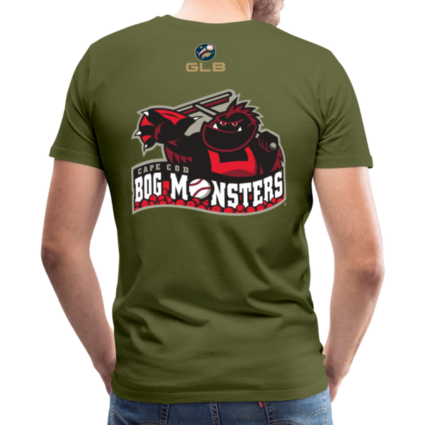 Cape Cod Bog Monsters Men's Premium T-Shirt - olive green