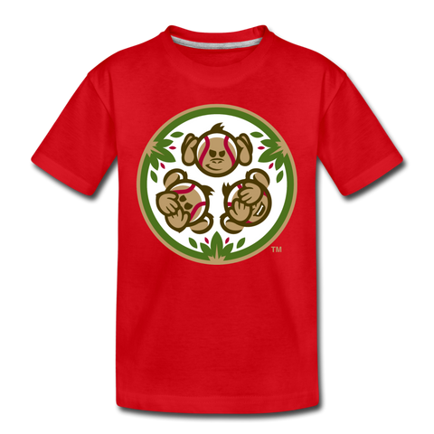Tri-City Wise Monkeys Kids' Premium T-Shirt - red