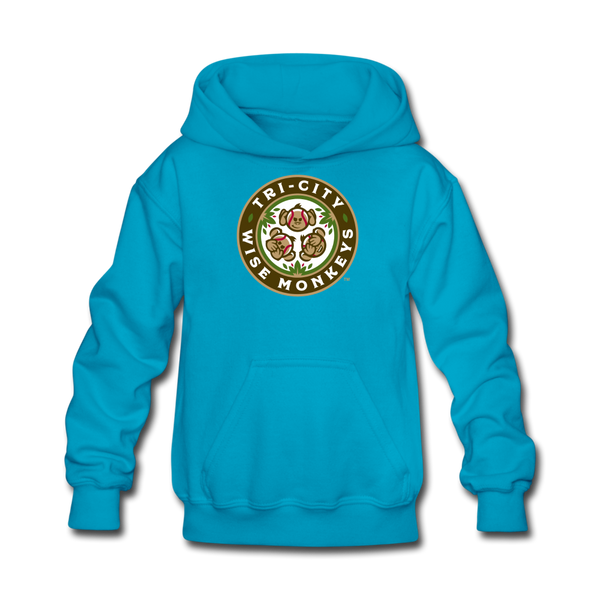 Tri-City Wise Monkeys Kids' Hoodie - turquoise