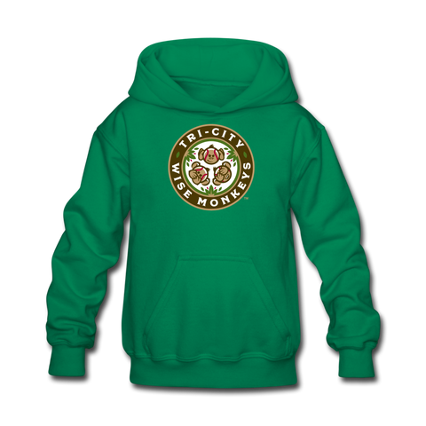 Tri-City Wise Monkeys Kids' Hoodie - kelly green