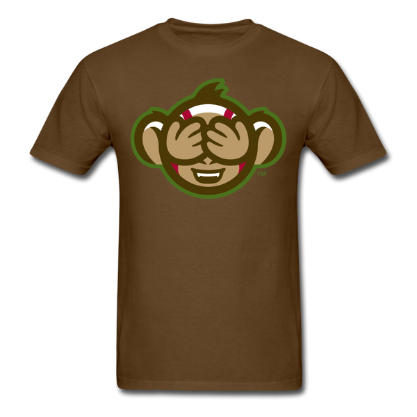 Tri-City Wise Monkeys See No Evil Unisex Classic T-Shirt - brown