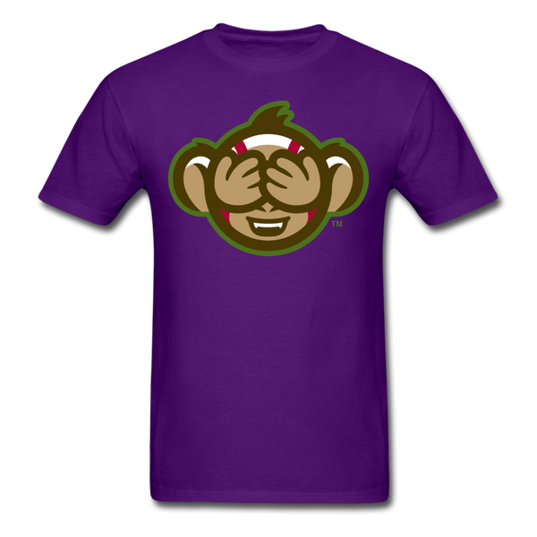 Tri-City Wise Monkeys See No Evil Unisex Classic T-Shirt - purple