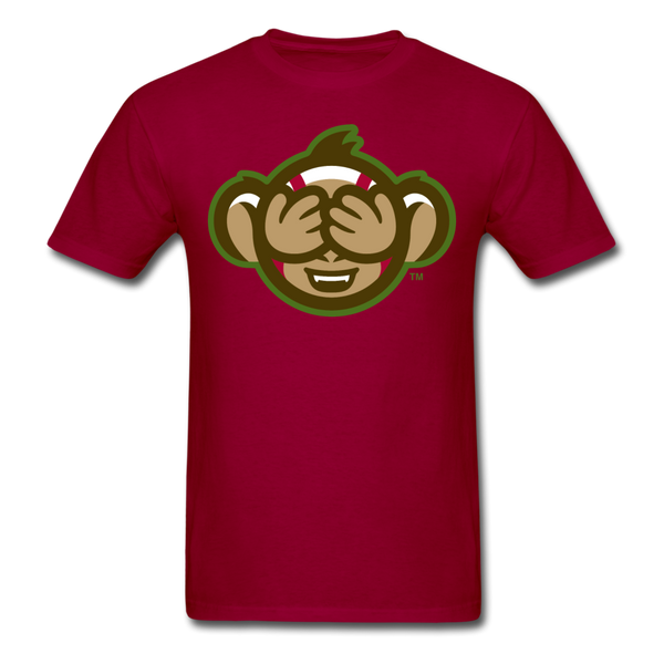 Tri-City Wise Monkeys See No Evil Unisex Classic T-Shirt - dark red