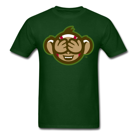 Tri-City Wise Monkeys See No Evil Unisex Classic T-Shirt - forest green