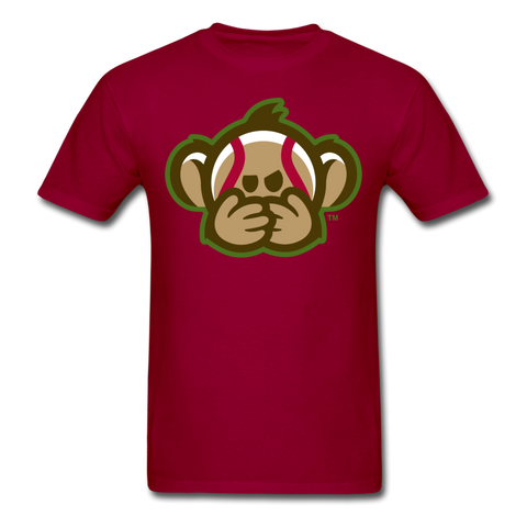 Tri-City Wise Monkeys Speak No Evil Unisex Classic T-Shirt - dark red
