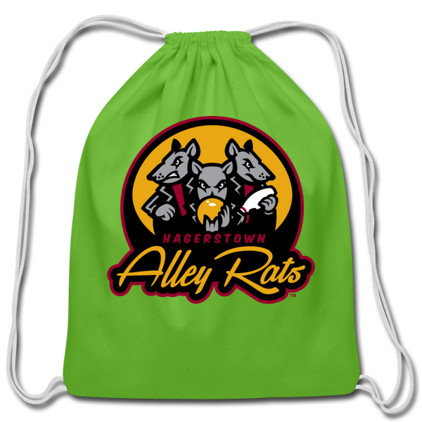 Hagerstown Alley Rats Cotton Drawstring Bag - clover