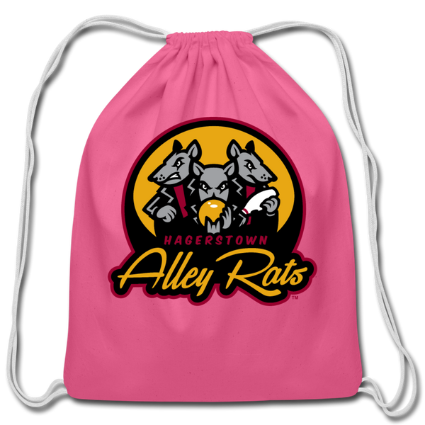 Hagerstown Alley Rats Cotton Drawstring Bag - pink