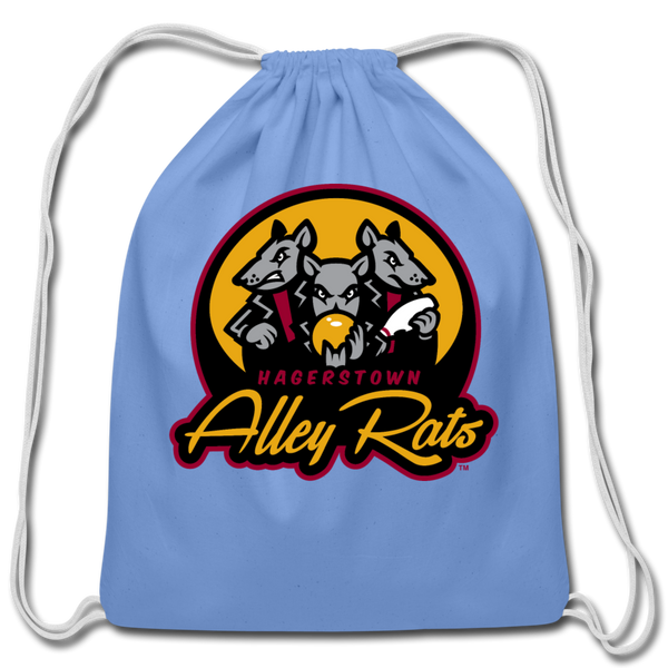 Hagerstown Alley Rats Cotton Drawstring Bag - carolina blue