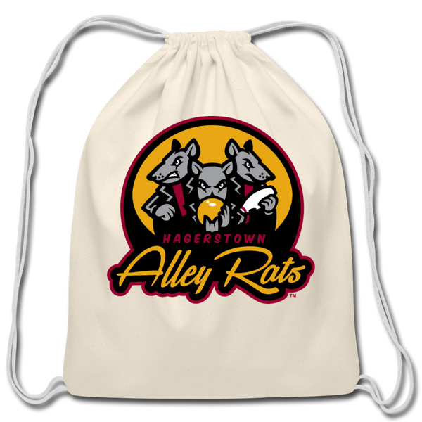 Hagerstown Alley Rats Cotton Drawstring Bag - natural
