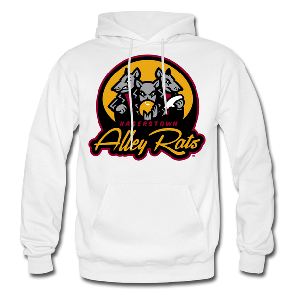 Hagerstown Alley Rats Heavy Blend Adult Hoodie - white