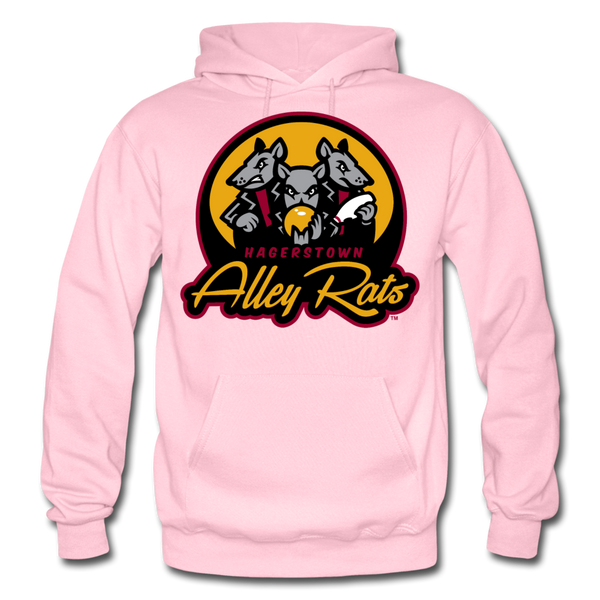 Hagerstown Alley Rats Heavy Blend Adult Hoodie - light pink