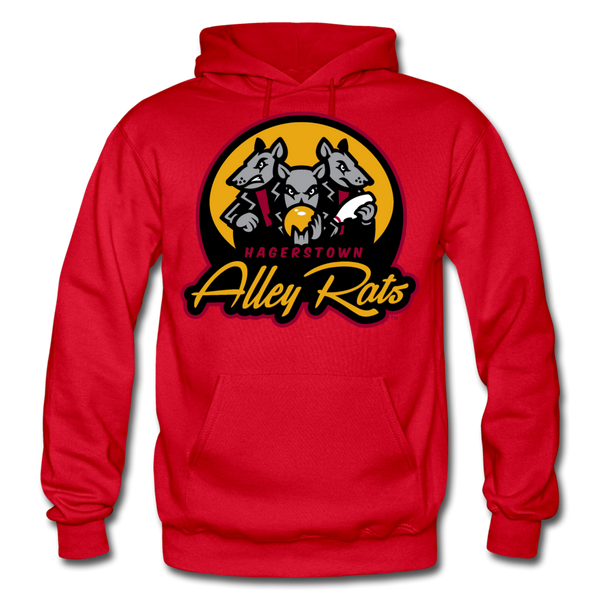 Hagerstown Alley Rats Heavy Blend Adult Hoodie - red