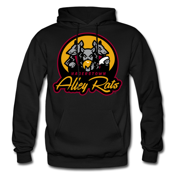 Hagerstown Alley Rats Heavy Blend Adult Hoodie - black