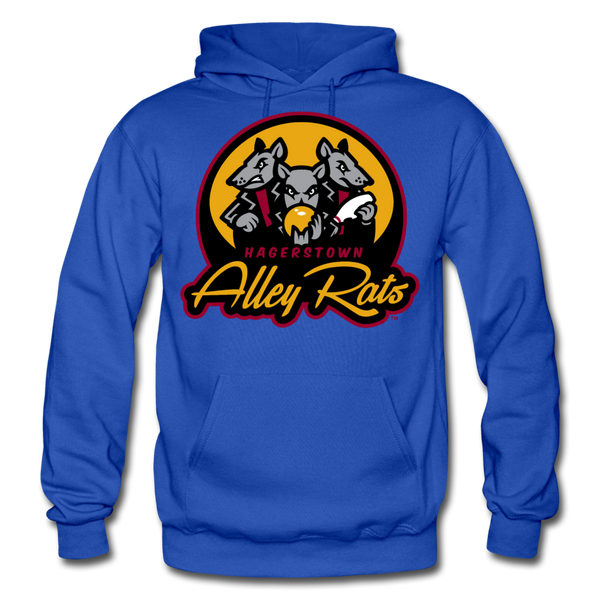 Hagerstown Alley Rats Heavy Blend Adult Hoodie - royal blue