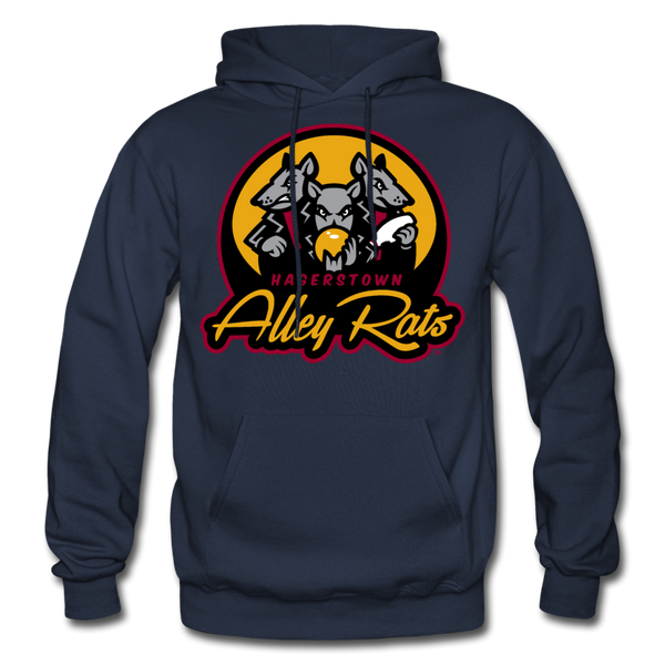 Hagerstown Alley Rats Heavy Blend Adult Hoodie - navy