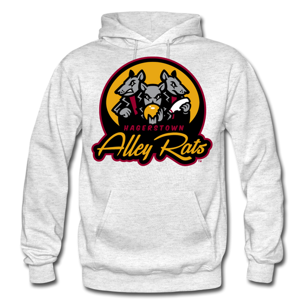 Hagerstown Alley Rats Heavy Blend Adult Hoodie - light heather gray