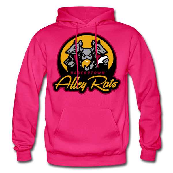 Hagerstown Alley Rats Heavy Blend Adult Hoodie - fuchsia