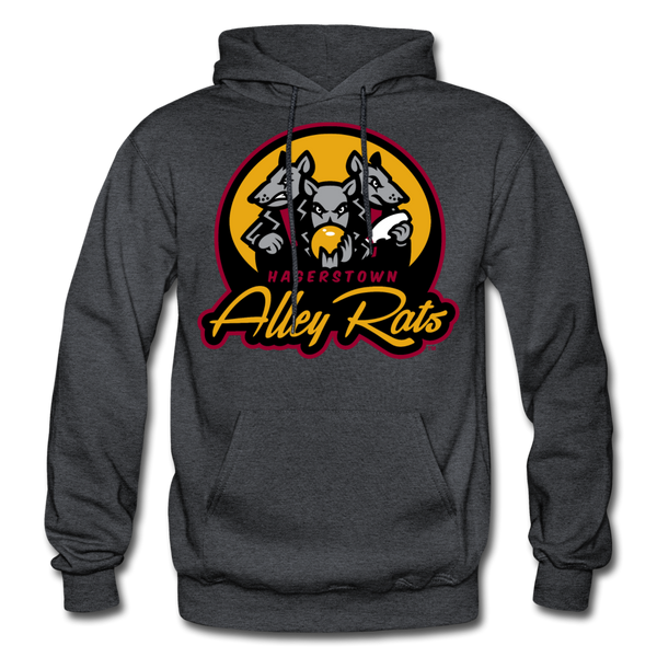 Hagerstown Alley Rats Heavy Blend Adult Hoodie - charcoal gray