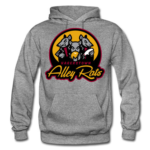 Hagerstown Alley Rats Heavy Blend Adult Hoodie - graphite heather