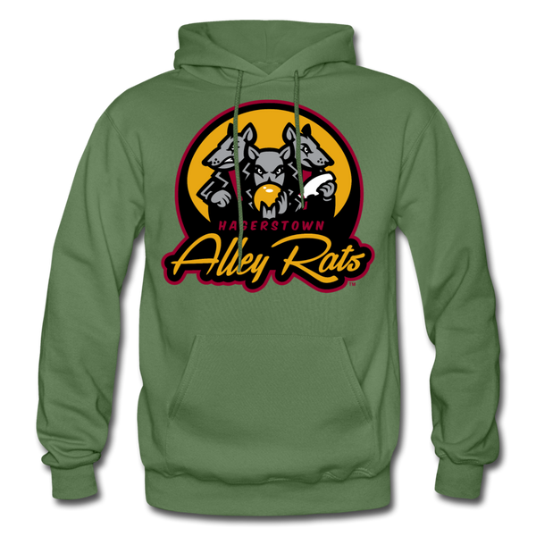 Hagerstown Alley Rats Heavy Blend Adult Hoodie - military green