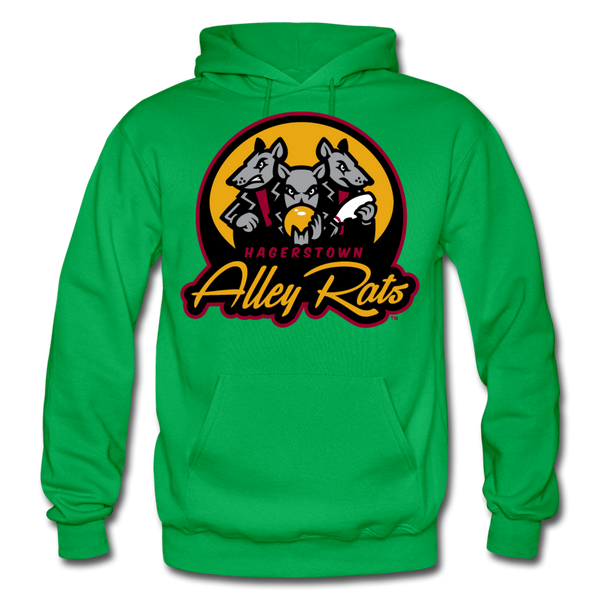 Hagerstown Alley Rats Heavy Blend Adult Hoodie - kelly green