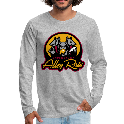 Hagerstown Alley Rats Men's Long Sleeve T-Shirt - heather gray