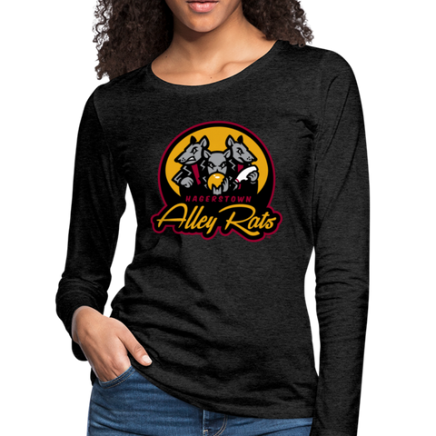 Hagerstown Alley Rats Women's Long Sleeve T-Shirt - charcoal gray