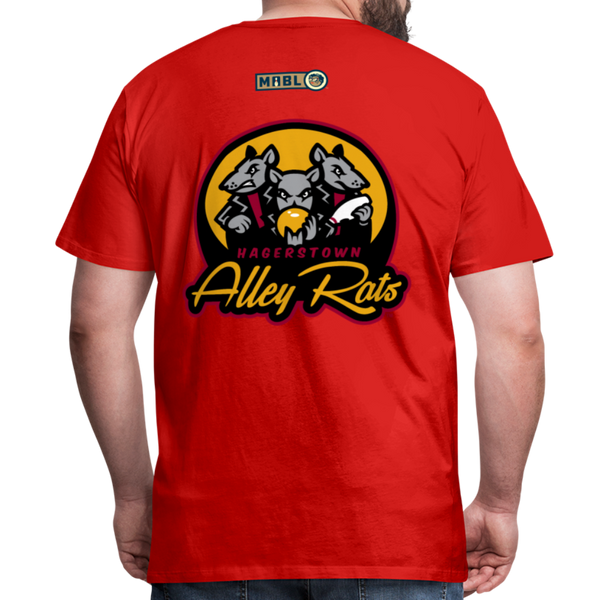 Hagerstown Alley Rats Men's Premium T-Shirt - red