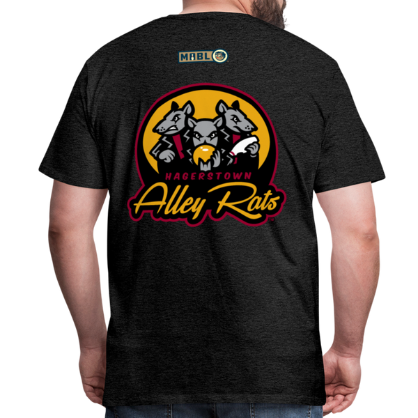 Hagerstown Alley Rats Men's Premium T-Shirt - charcoal gray