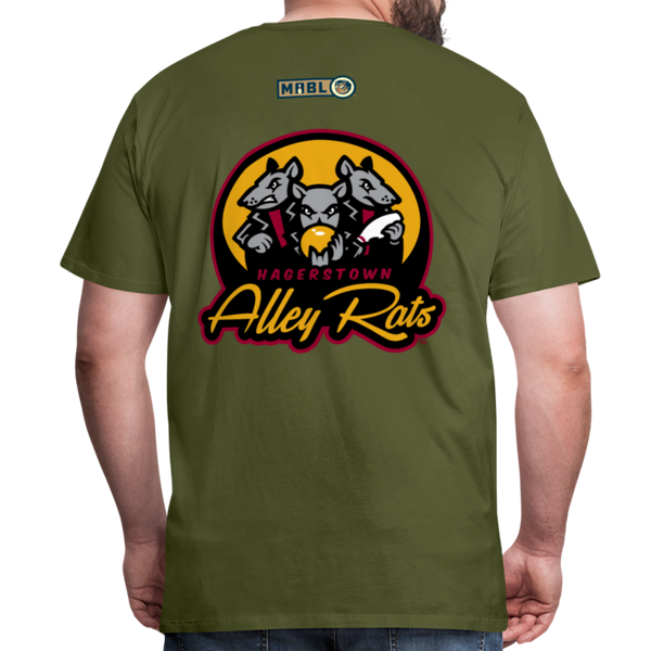 Hagerstown Alley Rats Men's Premium T-Shirt - olive green