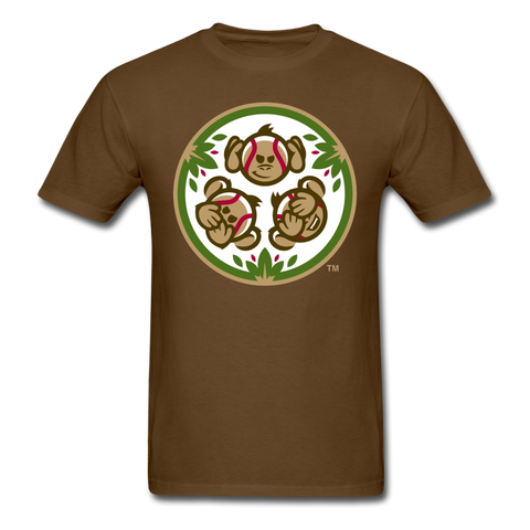 Tri-City Wise Monkeys Secondary Logo Unisex Classic T-Shirt - brown