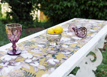 Load image into Gallery viewer, Floral Table Runner (Mustard Yellow)