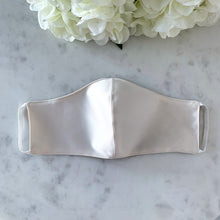 Load image into Gallery viewer, The Everyday Edit- Cream Satin/Silk Mask