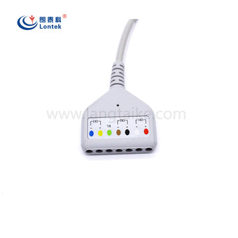 Holter Recorder ECG Patient Cable  Din 7-Ld for Medilog