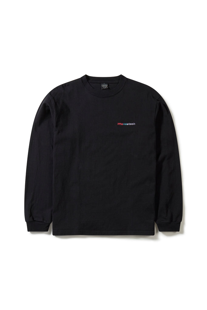 Manastash Emb Logo LS Tee III (Black) - Manastash Europe
