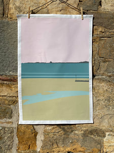 Portobello Beach Tea Towel
