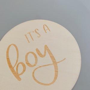 It's A Boy Milestone Disc